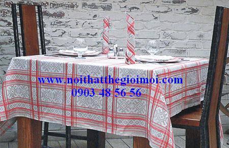 Khăn bàn sọc caro